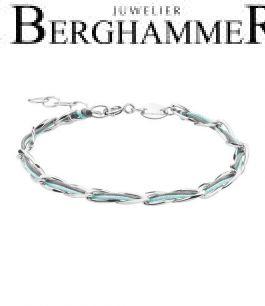 Unico Armband Anthrazit/Mint 925 Silber rhodiniert 20200923
