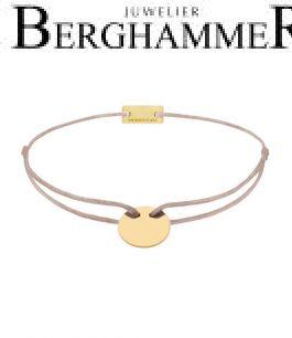 Filo Armband Textil Beige 750 Gold gelbgold 21200123