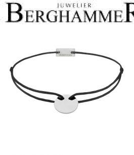 Filo Armband Textil Schwarz 750 Gold weißgold 21200401