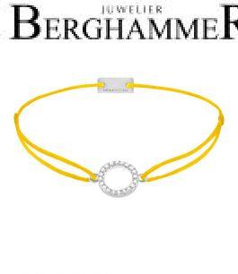 Filo Armband Textil Gelb Kreis 925 Silber rhodiniert 21203462