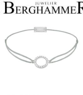 Filo Armband Textil Hellgrau Kreis 925 Silber rhodiniert 21203467