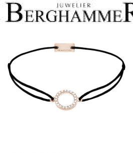Filo Armband Textil Schwarz Kreis 925 Silber roségold vergoldet 21203482