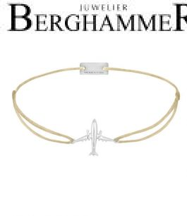 Filo Armband Textil Champagne Flugzeug 925 Silber rhodiniert 21204110