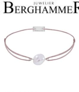 Filo Armband Textil Camel Süßwasserperle 925 Silber rhodiniert 21204488