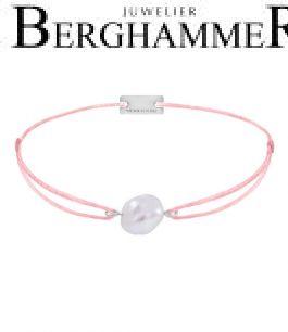 Filo Armband Textil Fuchsia Süßwasserperle 925 Silber rhodiniert 21204489