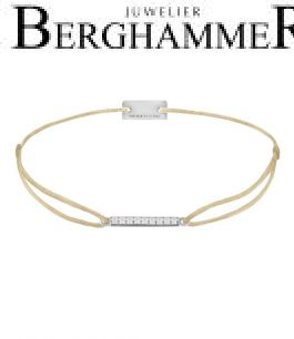 Filo Armband Textil Champagne Line 925 Silber rhodiniert 21204494