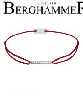 Filo Armband Textil Weinrot Line 925 Silber rhodiniert 21204496