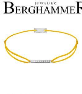 Filo Armband Textil Gelb Line 925 Silber rhodiniert 21204497