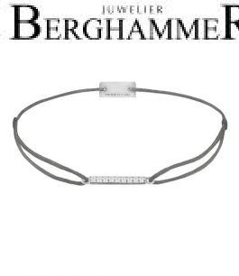 Filo Armband Textil Anthrazit Line 925 Silber rhodiniert 21204501