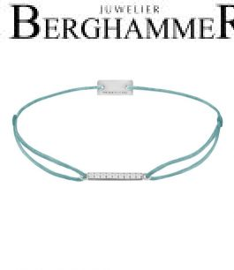 Filo Armband Textil Türkis Line 925 Silber rhodiniert 21204504