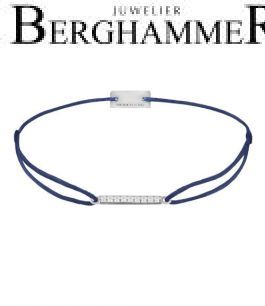 Filo Armband Textil Dunkelblau Line 925 Silber rhodiniert 21204507
