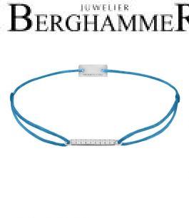 Filo Armband Textil Petrol Line 925 Silber rhodiniert 21204508