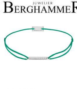 Filo Armband Textil Grasgrün Line 925 Silber rhodiniert 21204509