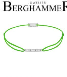 Filo Armband Textil Neon-Grün Line 925 Silber rhodiniert 21204510