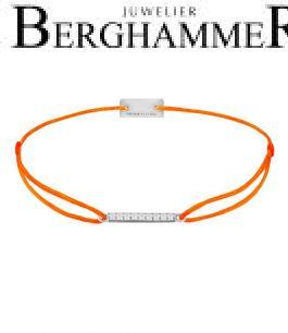 Filo Armband Textil Neon-Orange Line 925 Silber rhodiniert 21204515