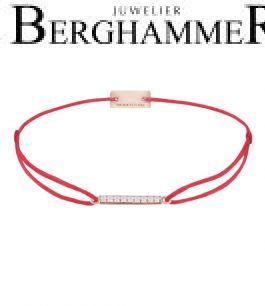 Filo Armband Textil Rot Line 925 Silber roségold vergoldet 21204516