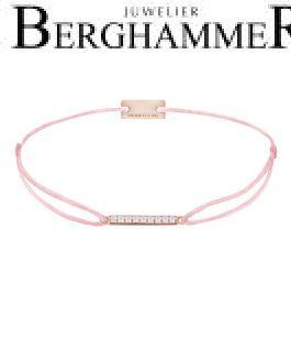 Filo Armband Textil Rosa Line 925 Silber roségold vergoldet 21204519