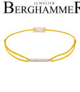 Filo Armband Textil Gelb Line 925 Silber roségold vergoldet 21204521