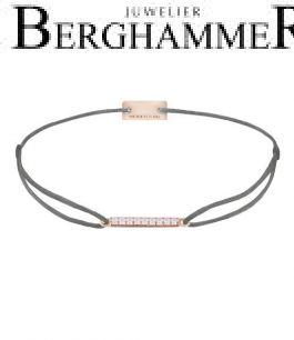 Filo Armband Textil Anthrazit Line 925 Silber roségold vergoldet 21204525