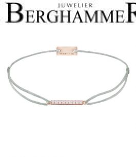 Filo Armband Textil Hellgrau Line 925 Silber roségold vergoldet 21204526