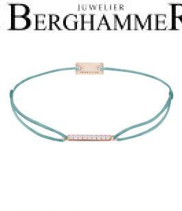 Filo Armband Textil Türkis Line 925 Silber roségold vergoldet 21204528