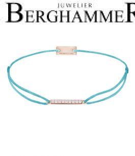 Filo Armband Textil Hellblau Line 925 Silber roségold vergoldet 21204529