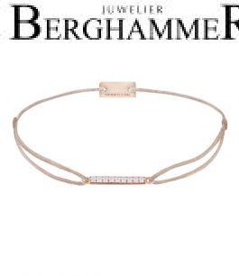 Filo Armband Textil Hellrosa Line 925 Silber roségold vergoldet 21204535