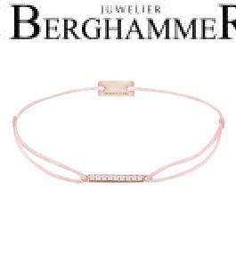 Filo Armband Textil Fuchsia Line 925 Silber roségold vergoldet 21204537