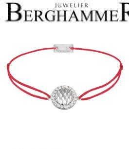 Filo Armband Textil Rot Shine 925 Silber rhodiniert 21204540