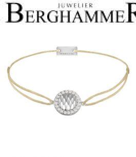 Filo Armband Textil Champagne Shine 925 Silber rhodiniert 21204542