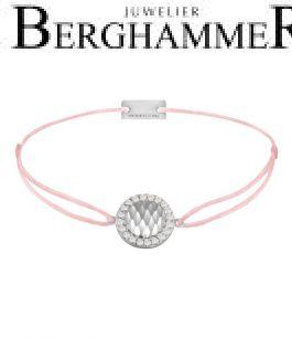 Filo Armband Textil Rosa Shine 925 Silber rhodiniert 21204543
