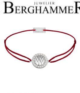 Filo Armband Textil Weinrot Shine 925 Silber rhodiniert 21204544
