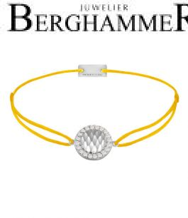 Filo Armband Textil Gelb Shine 925 Silber rhodiniert 21204545