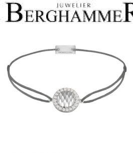 Filo Armband Textil Anthrazit Shine 925 Silber rhodiniert 21204549