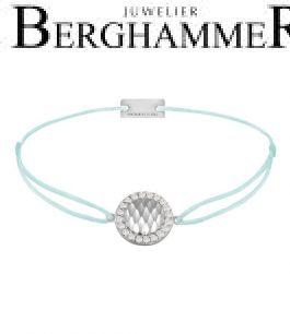 Filo Armband Textil Mint Shine 925 Silber rhodiniert 21204551