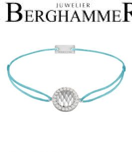 Filo Armband Textil Hellblau Shine 925 Silber rhodiniert 21204553