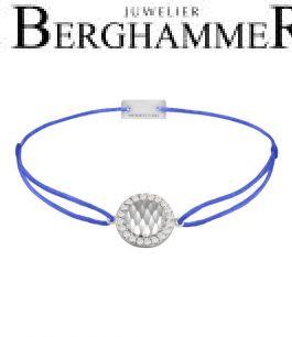 Filo Armband Textil Blitzblau Shine 925 Silber rhodiniert 21204554
