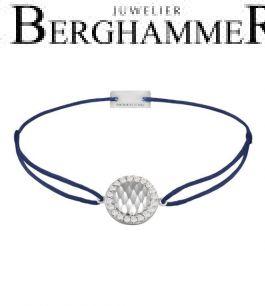 Filo Armband Textil Dunkelblau Shine 925 Silber rhodiniert 21204555