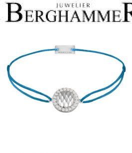 Filo Armband Textil Petrol Shine 925 Silber rhodiniert 21204556