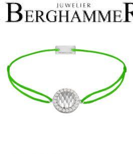 Filo Armband Textil Neon-Grün Shine 925 Silber rhodiniert 21204558