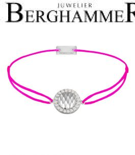 Filo Armband Textil Neon-Pink Shine 925 Silber rhodiniert 21204562