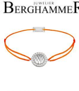 Filo Armband Textil Neon-Orange Shine 925 Silber rhodiniert 21204563
