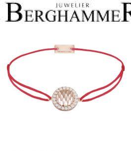 Filo Armband Textil Rot Shine 925 Silber roségold vergoldet 21204564