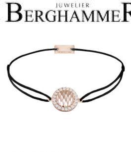Filo Armband Textil Schwarz Shine 925 Silber roségold vergoldet 21204565