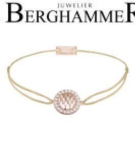 Filo Armband Textil Champagne Shine 925 Silber roségold vergoldet 21204566