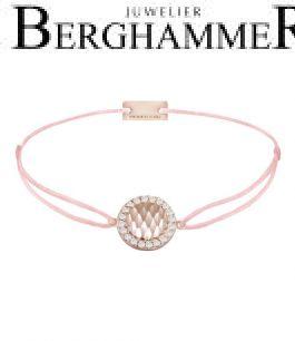 Filo Armband Textil Rosa Shine 925 Silber roségold vergoldet 21204567