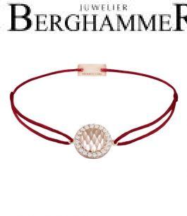 Filo Armband Textil Weinrot Shine 925 Silber roségold vergoldet 21204568
