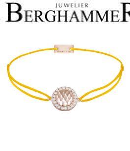 Filo Armband Textil Gelb Shine 925 Silber roségold vergoldet 21204569