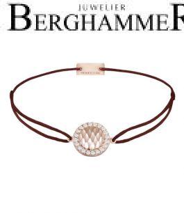 Filo Armband Textil Braun Shine 925 Silber roségold vergoldet 21204571