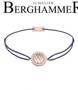 Filo Armband Textil Grau-Lila Shine 925 Silber roségold vergoldet 21204572